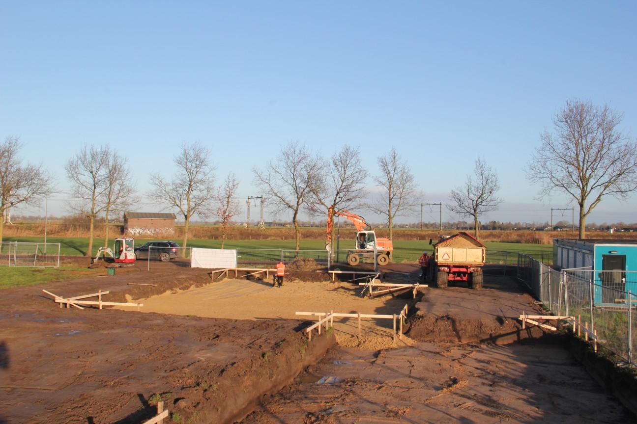 Uitgraven bouwkavel de Kouwe Noord Geffen 2